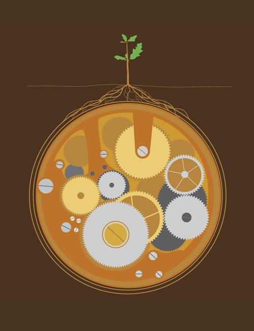 Uhrenwerk Vektor Illustration