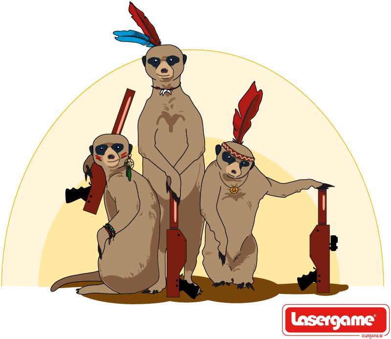 lasergame Gang Illustration