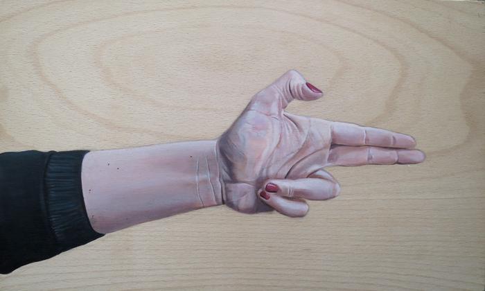 Kill-U Gemälde Handstudie