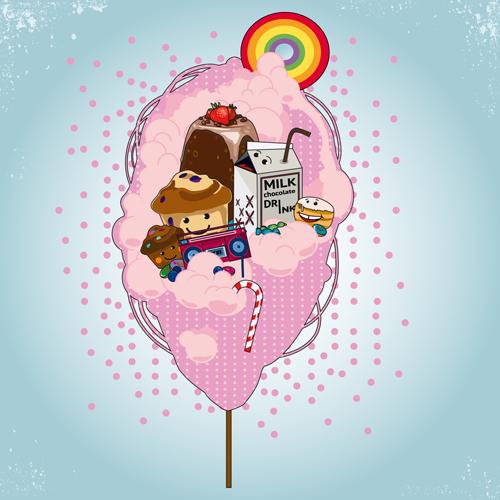 Candyfloss Vector Illustration