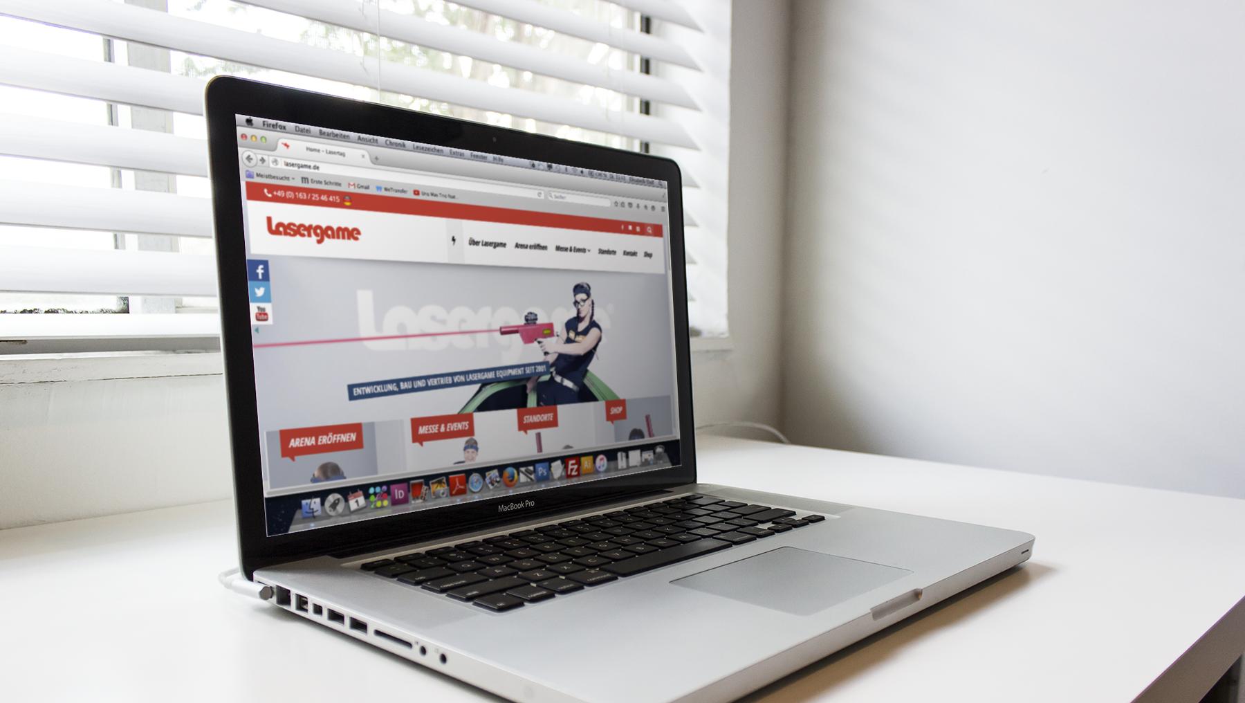 lasergame.de webdesign