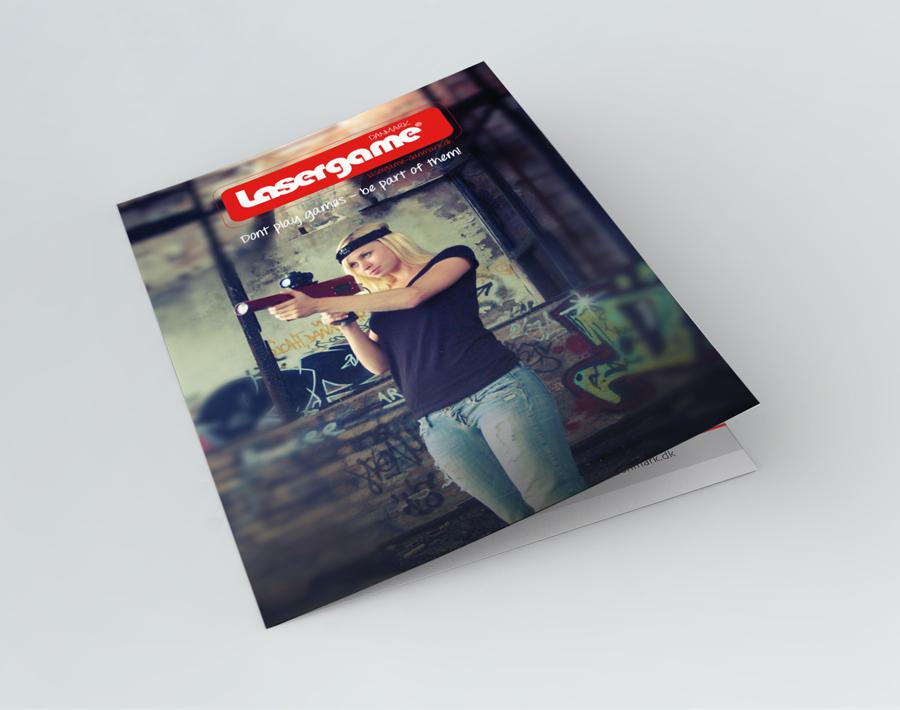 lasergame Faltblatt Cover