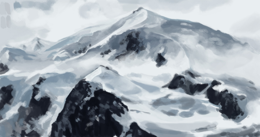 berg mountain snow schnee Illustration