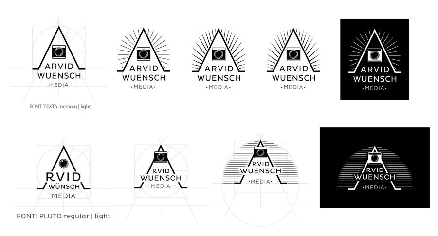 arvid wuensch logo entwuerfe